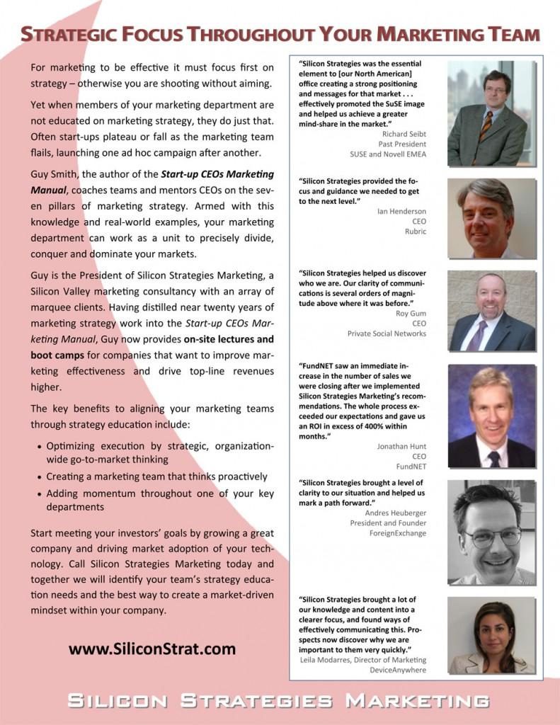 Onsite marketing seminar brochure