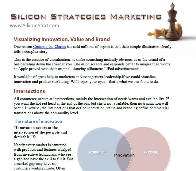 Screen shot of the Visualizing Innovation, Value and Brand white paper
